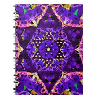 Star Flower Mandala in Purple Note Book