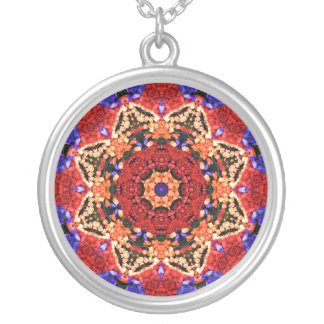 Star Flower Mandala Pendant Necklace