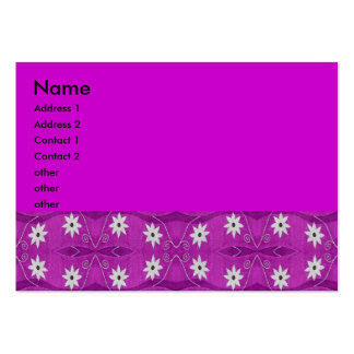 star flower purple pack of chubby business cards