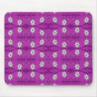 star flowers purple mouse pad