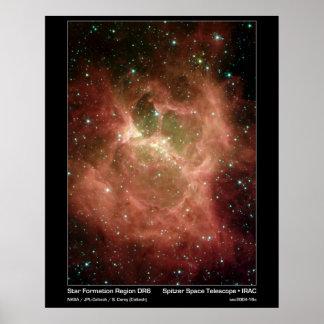 Star Formation Region DRS – Spitzer Telescope Poster