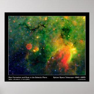 Star Formation & Supernova Nebula IRDC G11.11-0.11 Poster