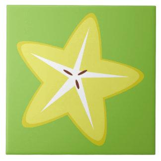Star Fruit Large Square Tile