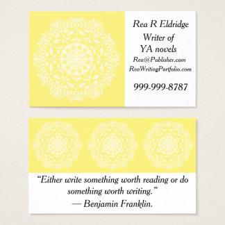 Star Fruit Mandala Business Card