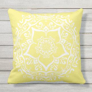Star Fruit Mandala Outdoor Cushion