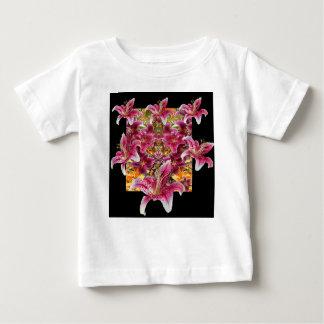 star gazer lilies floral art baby T-Shirt