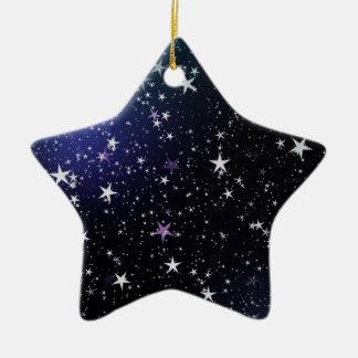Star Gazer Nature Sky Space Peace Love Destiny Ceramic Ornament