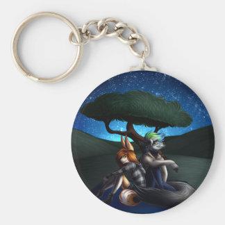 Star Gazing Basic Round Button Key Ring