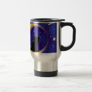 Star Gazing Cat Travel Mug
