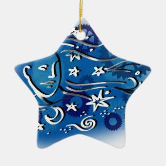 star gazing ceramic ornament