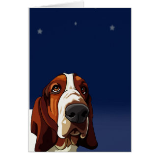 Star Gazing Hound Greeting Card