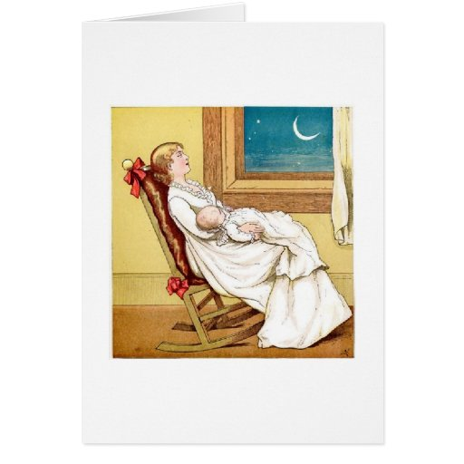 Star-Gazing Mother, Greeting Card