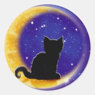 Star Gazing Round Sticker