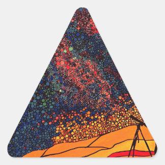 Star gazing triangle sticker