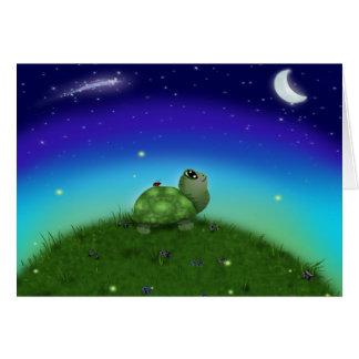 Star Gazing Turtle Card