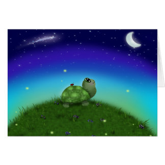 Star Gazing Turtle Greeting Card