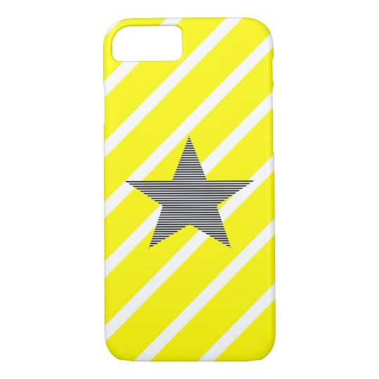 Star - geometric pattern - yellow and white. iPhone 8/7 case