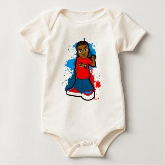 Star Ghetto Gangster street hood style swagger Baby Bodysuit
