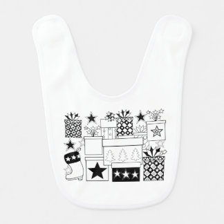 Star Gifts Line Art Design Baby Bibs