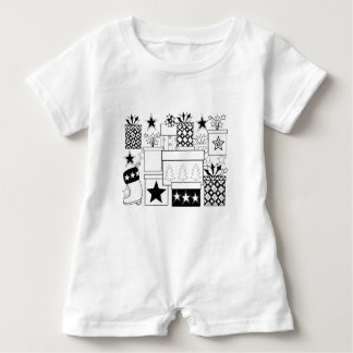 Star Gifts Line Art Design Baby Bodysuit
