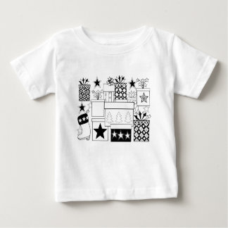 Star Gifts Line Art Design Baby T-Shirt