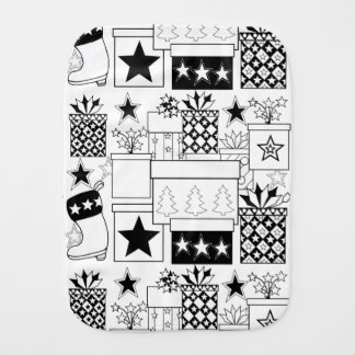 Star Gifts Line Art Design Burp Cloth