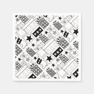 Star Gifts Line Art Design Paper Napkin