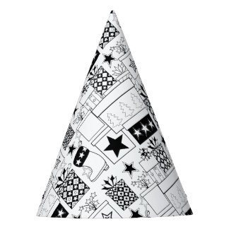 Star Gifts Line Art Design Party Hat