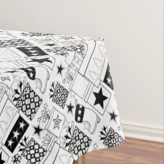 Star Gifts Line Art Design Tablecloth