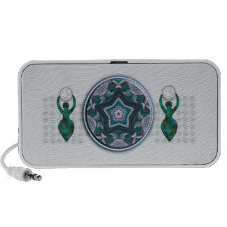 Star Goddess With Moon Notebook Speakers