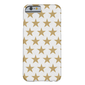Star Gold pattern with cotton texture Barely There iPhone 6 Case