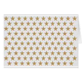 Star Gold pattern with cotton texture Card