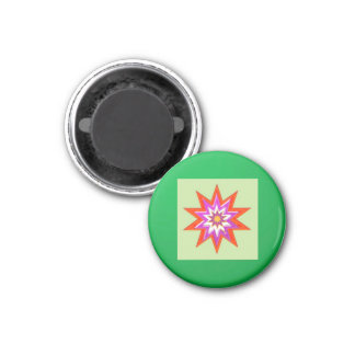STAR green background BLESSING MAGIC lowprice 3 Cm Round Magnet