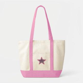 Star Grey pink, Flirt Tote Bags