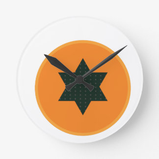 star half fruit round clock