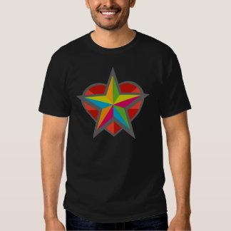 Star Heart Black TShirt