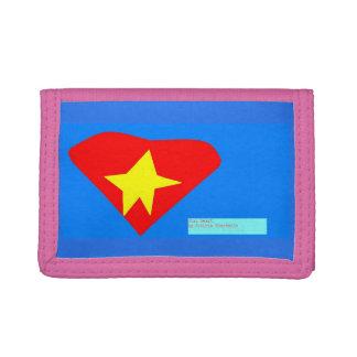 star heart tri-fold wallets