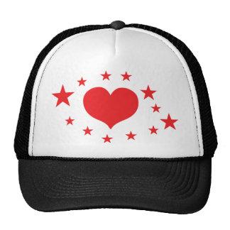 star hearts hats