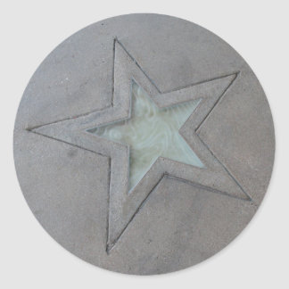 Star in Hollywood Classic Round Sticker