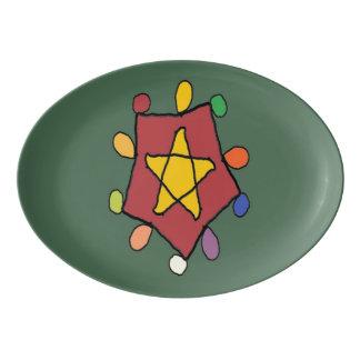 Star in Lights Porcelain Serving Platter