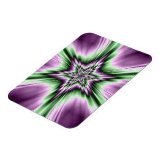 Star in Purple and Green Photo Magnet