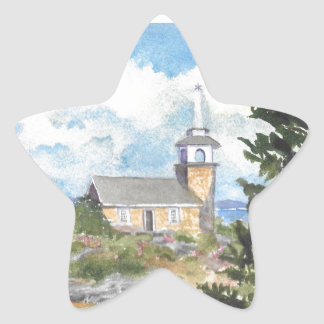 Star Island Isle of Shoals - Star Shape Stickers