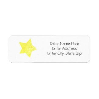 Star Label #1 Return Address Label