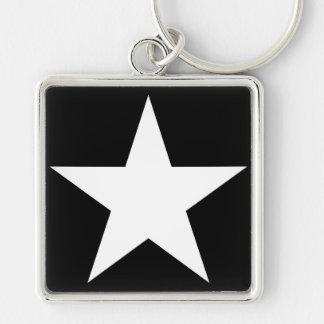 Star / Large (5.1 cm) Premium Square Key Ring