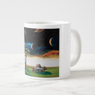 Star large wood of outer space large coffee mug