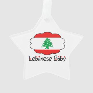 Star Lebanese Flag Baby Christmas Ornament