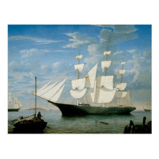 Star Light in Boston Harbor Postcard