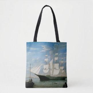 Star Light in Boston Harbor Tote Bag