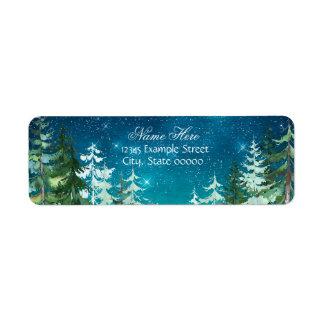 Star Light Night Forest Return Address Return Address Label