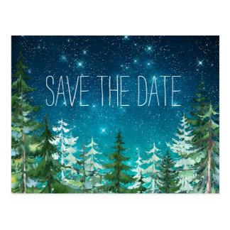Star Light Night Forest Wedding Save the Postcards